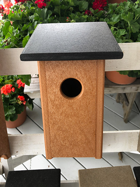 Black and Cedar poly bluebird house
