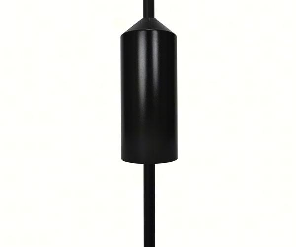 Black Cylinder Pole Baffle